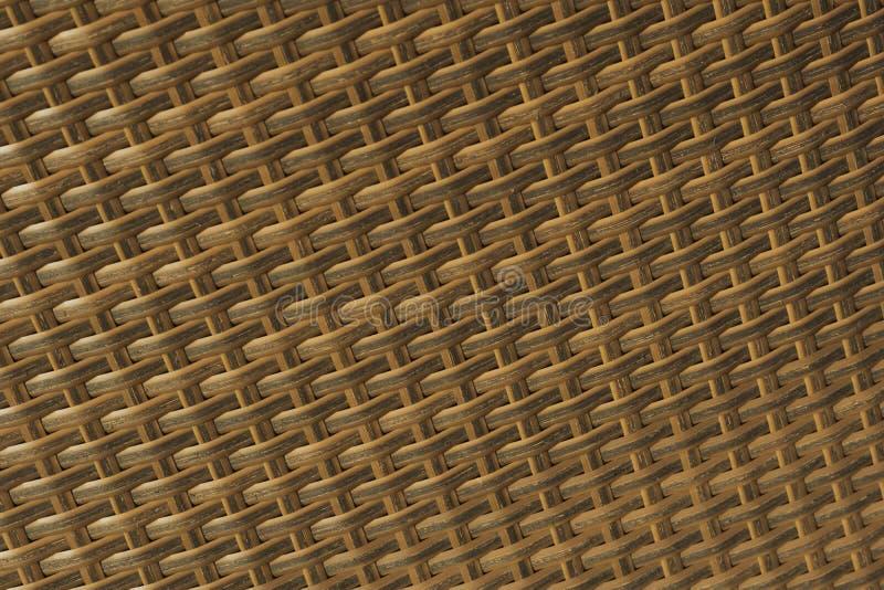 Naturalna brąz tekstura łozinowi prącia, Łozinowa rattan tekstura, zbliżenie obrazy stock