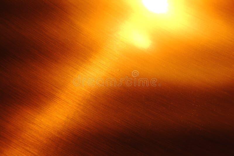 Naturalna brązowa metal tekstura, ciętość fotografia royalty free