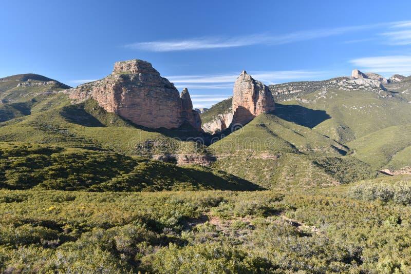 Naturalna brama Salto De Roldan w Aragon zdjęcie stock
