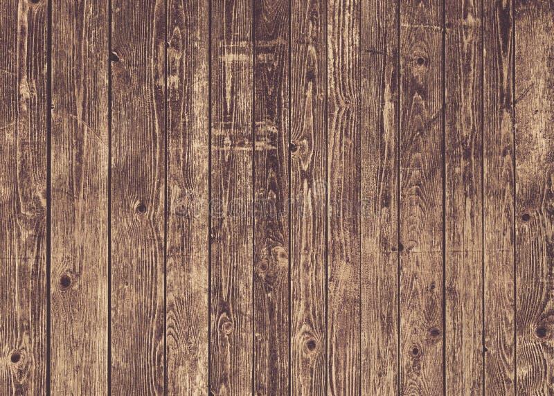 Naturalna brown stajni drewna ściana Ścienny tekstury tła wzór zdjęcia stock
