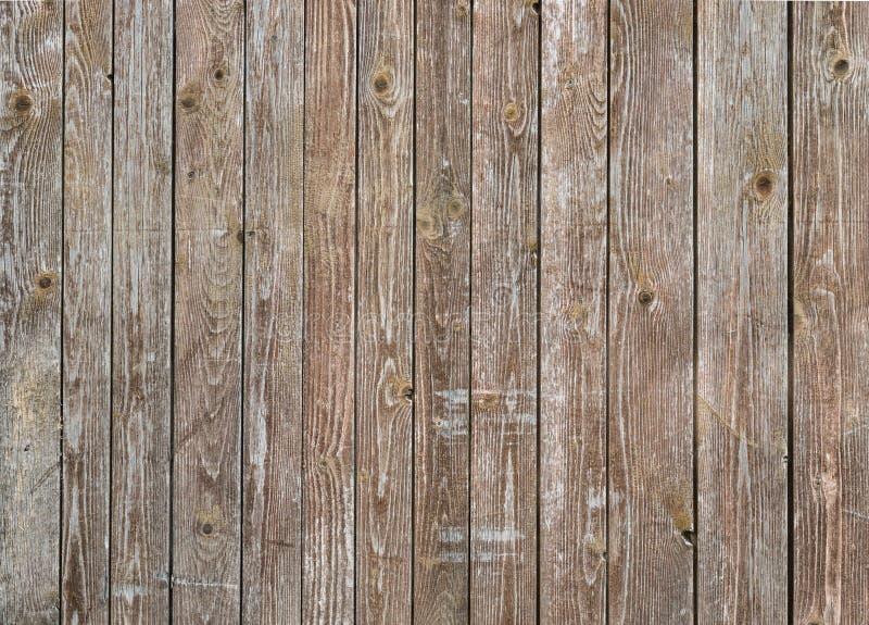 Naturalna brown stajni drewna ściana Ścienny tekstury tła wzór obraz stock
