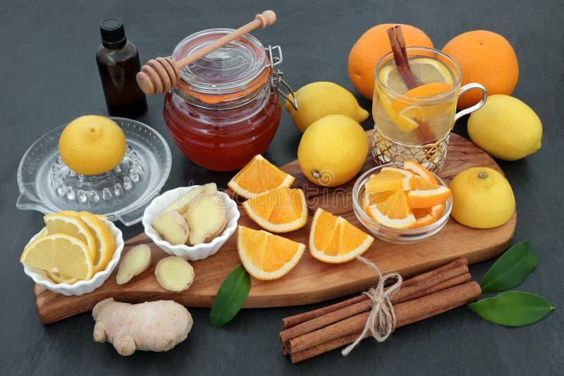 Naturalna grypa i Zimny remedium obrazy royalty free