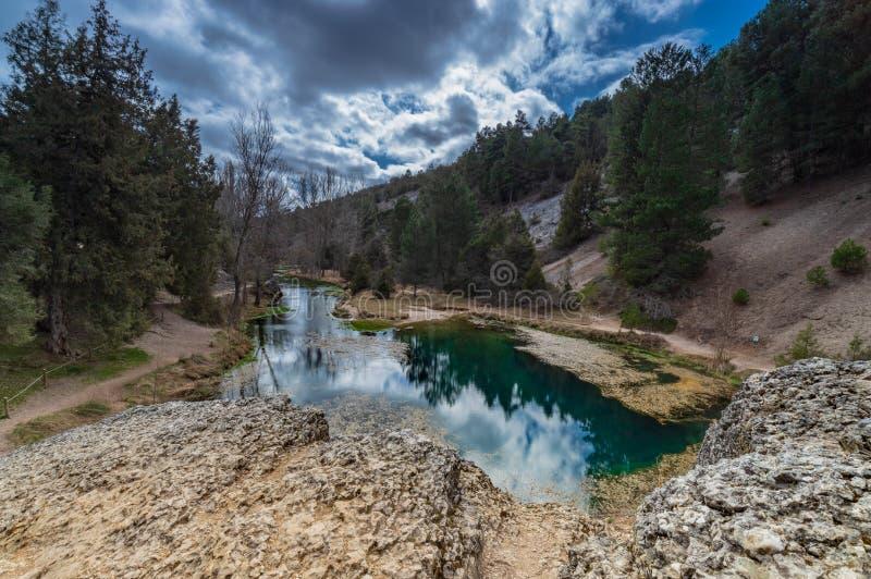 Naturalna laguna Chujący miejsce «losu angeles fuentona « fotografia stock