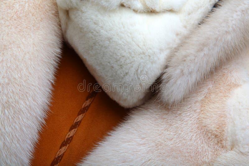 Naturalna makro- wełny tekstury zwierząt studia ilość obrazy stock