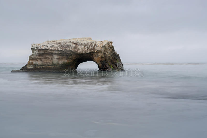 Naturalna mosta stanu plaża, Santa Cruz, Kalifornia, usa zdjęcia royalty free