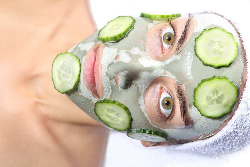Naturalna ogórek maska fotografia stock