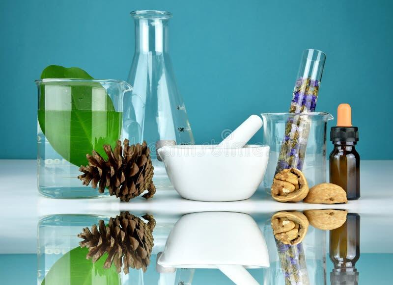 Naturalna organicznie medycyna i opieka zdrowotna, Alternatywna rośliny medycyna obraz stock