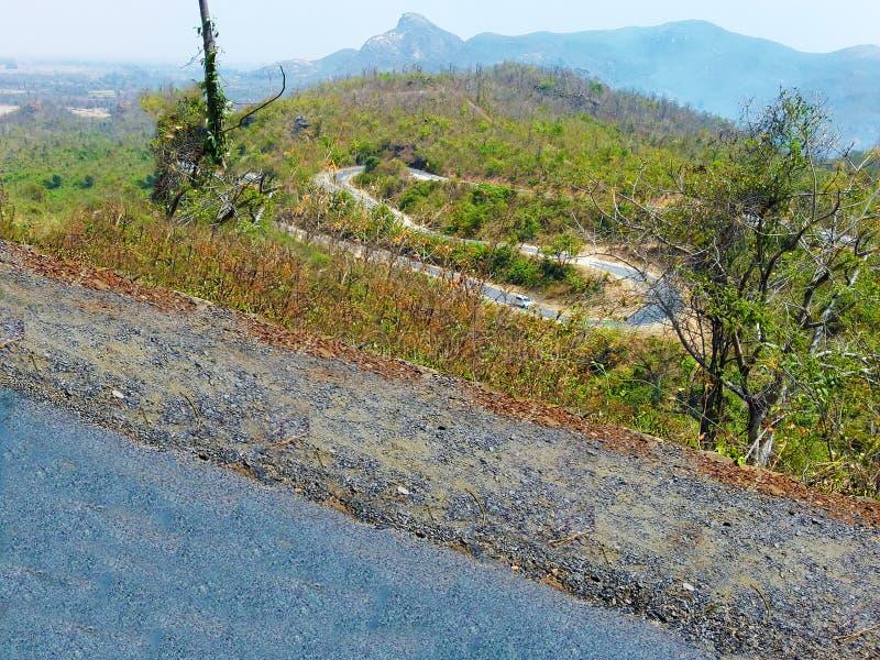 Naturalna piękna sceneria skalista góra obraz royalty free
