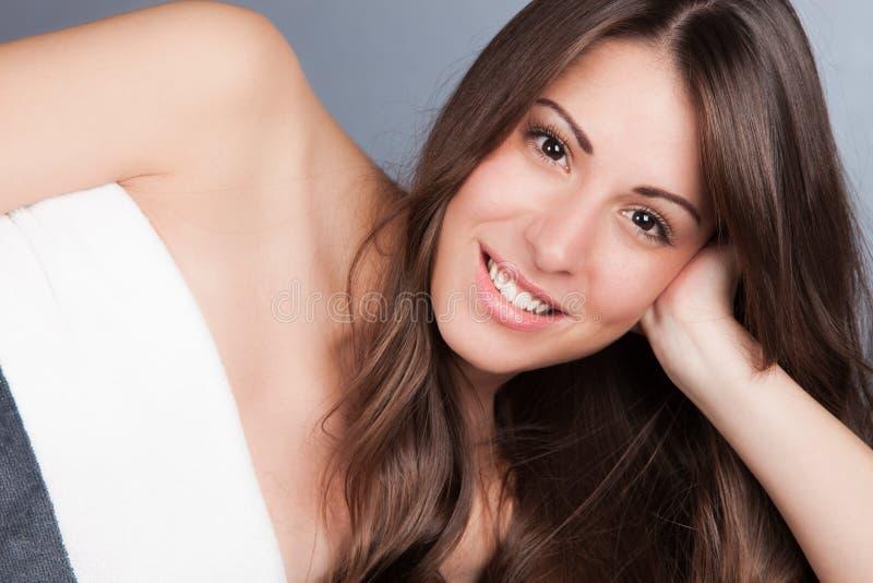 Naturalna piękno kobieta zdjęcie royalty free