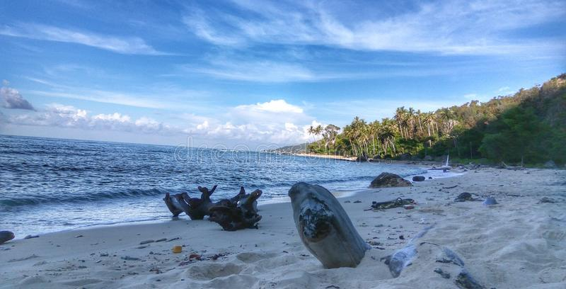 Naturalna piasek plaża obraz stock