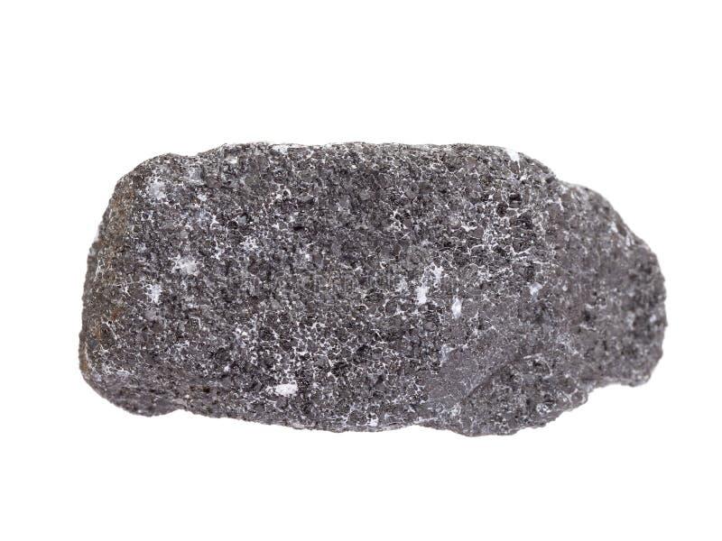 Naturalna próbka chromit kopalina znacząco chromium kruszec na białym tle zdjęcia stock