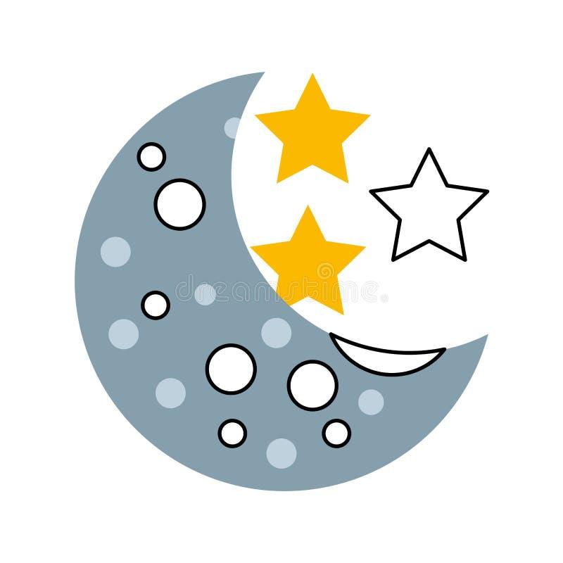 Naturalna satelitarna księżyc ikona royalty ilustracja