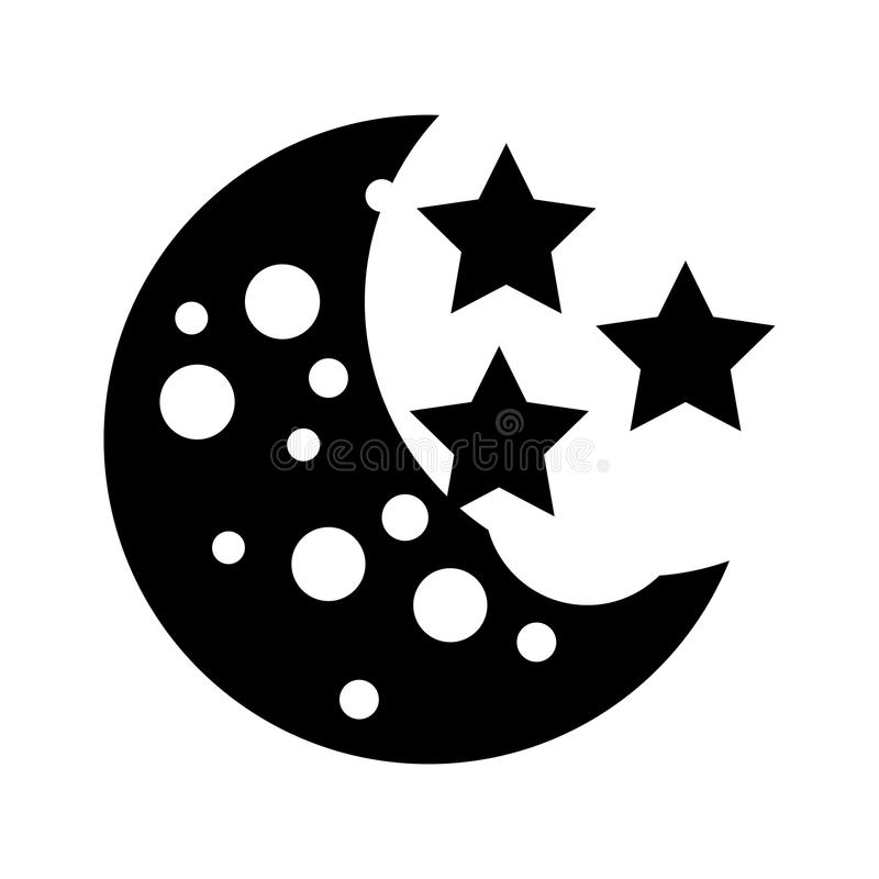 Naturalna satelitarna księżyc ikona ilustracja wektor