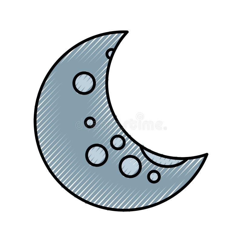 Naturalna satelitarna księżyc ikona ilustracji