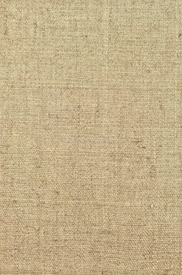 Naturalna textured pionowo grunge burlap hessian worka parciana tekstura, grungy rocznika kraj grabije kanwę, wyszczególniający w obraz stock