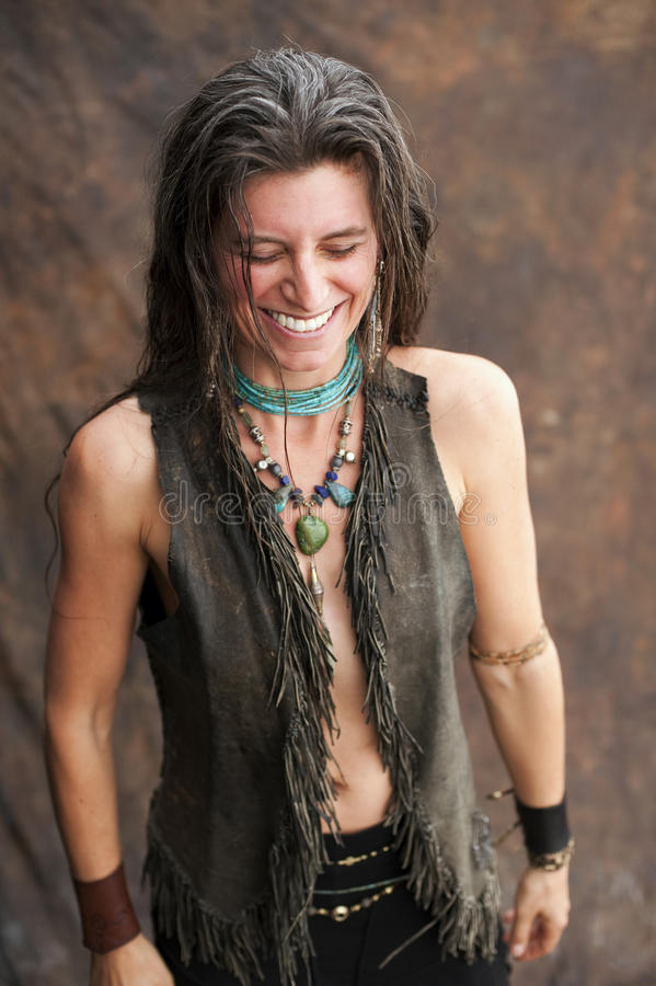 naturalna uśmiechnięta kobieta zdjęcie royalty free