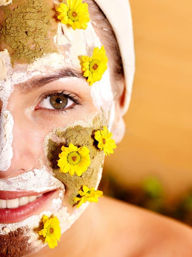naturalne gliniane twarzowe domowej roboty maski obraz royalty free