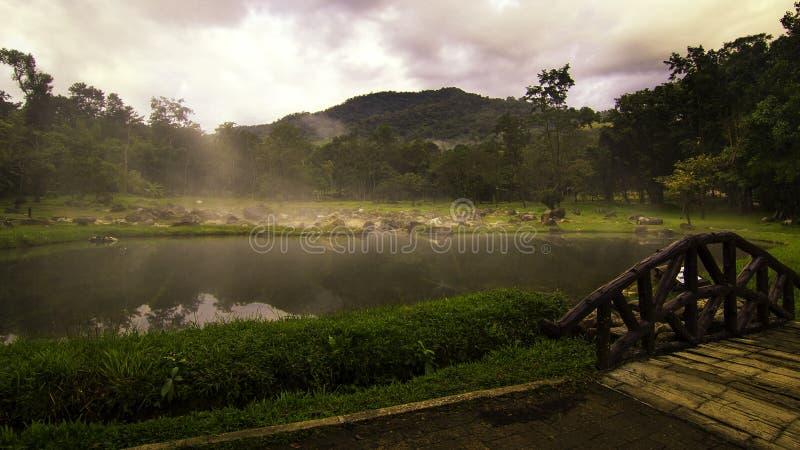 Naturalne gorące wiosny Chae syna park narodowy zdjęcie stock