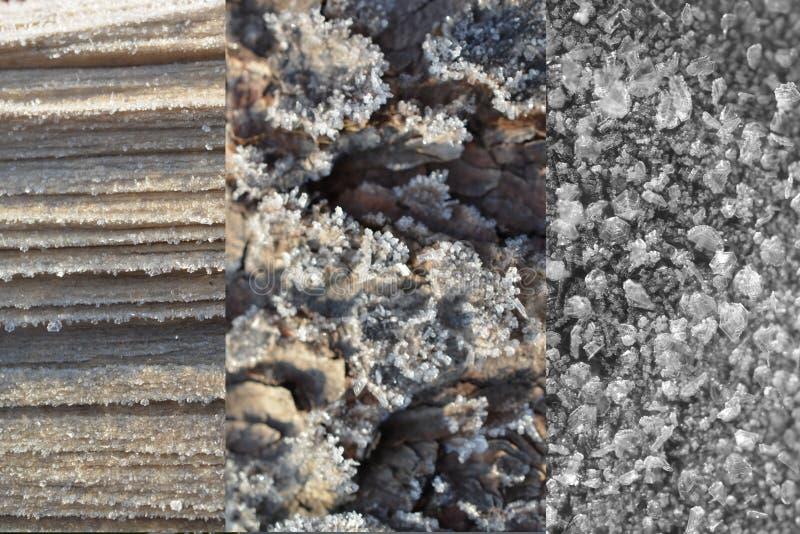 Naturalne Mrozowe tekstury obrazy royalty free