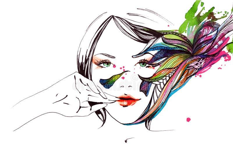 Download Naturalne piękno ilustracja wektor. Ilustracja złożonej z human - 53780866