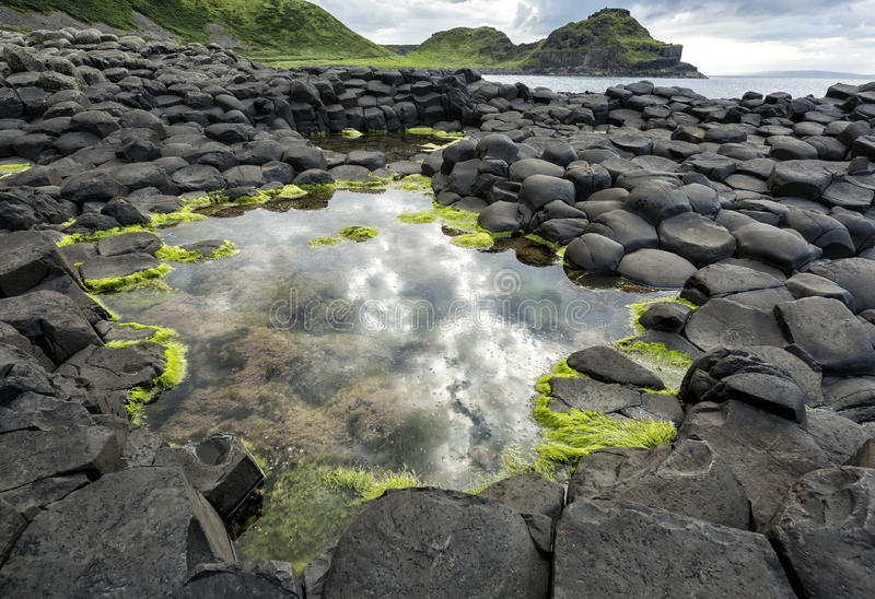 Naturalne skały w Belfast terenie, Północnym - Ireland fotografia royalty free