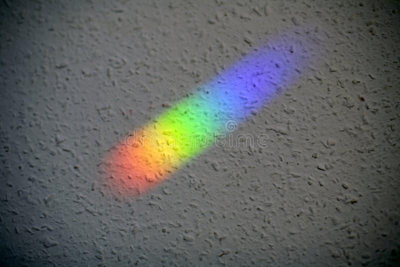 Naturalnego światła odbicie na ścianie Koloru widmo obraz stock