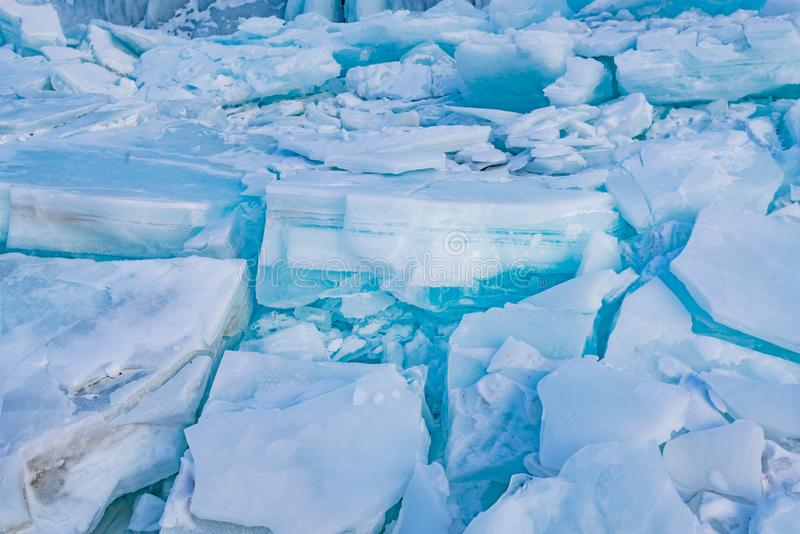 Naturalnego lodu powierzchni krakingowy tło obrazy stock