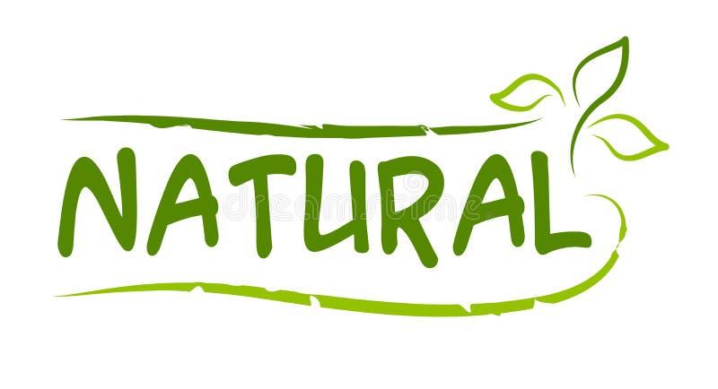 Naturalnego produktu majcher ilustracja wektor