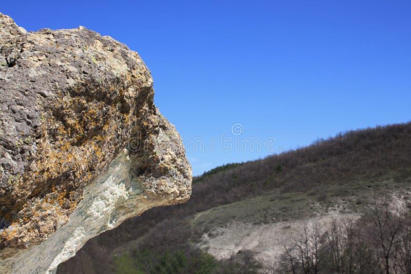 Naturalnego zjawiska kamień ono Rozrasta się w Bułgaria obraz stock