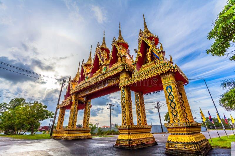 naturalnego zjawiska słońce huśta się w okręgu nad Supa świątynia fotografia stock