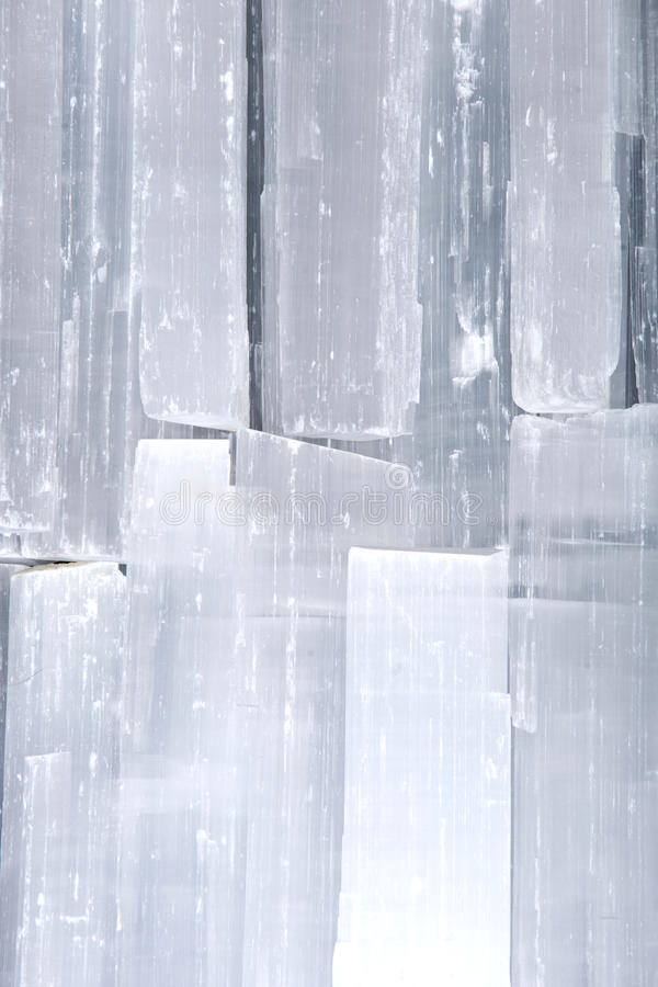 Naturalni biali selenitów prącia zdjęcie royalty free