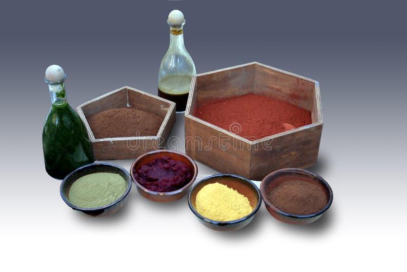 naturalni colorants barwidła zdjęcie royalty free