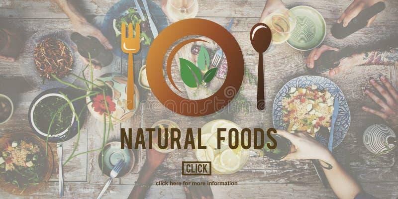 Naturalni Foods Jedzą Well Dobrego konserwacja gościa restauracji pojęcie zdjęcia stock