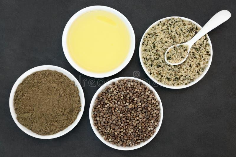 Naturalni Konopiani produkty obraz stock
