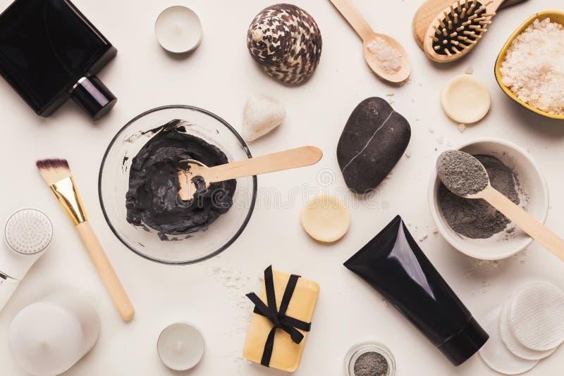 Naturalni kosmetyki dla domu lub salonu zdroju traktowania obrazy stock