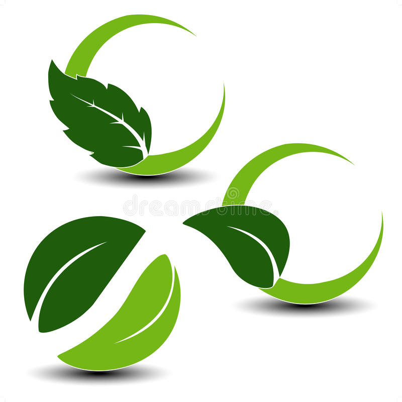 naturalni liść symbole ilustracja wektor