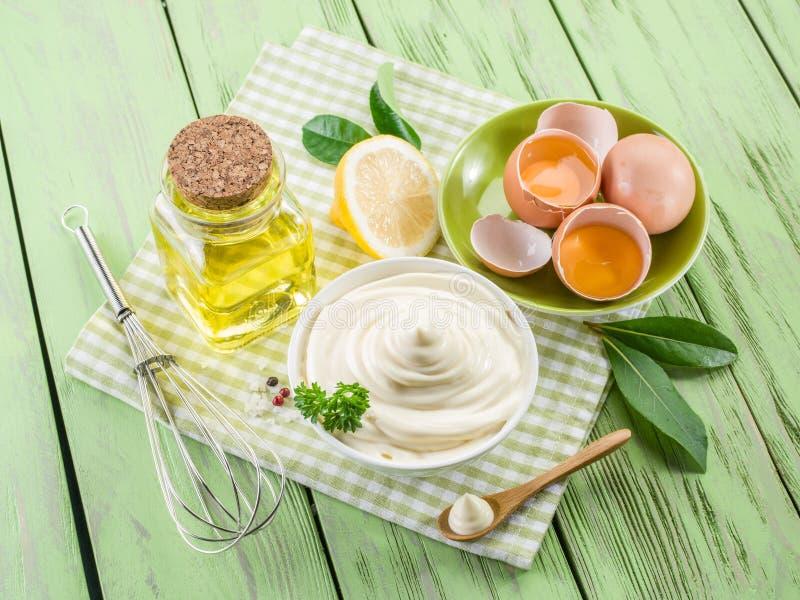 Naturalni majonezowi składniki zdjęcia royalty free