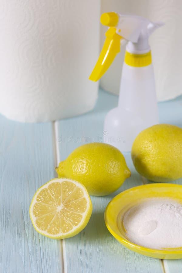 Naturalni produkty dla eco czyścić zdjęcia stock