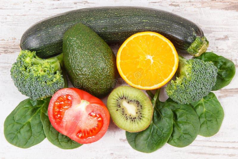Naturalni składniki jako źródło potas, witamina K, kopaliny i włókno, obraz royalty free
