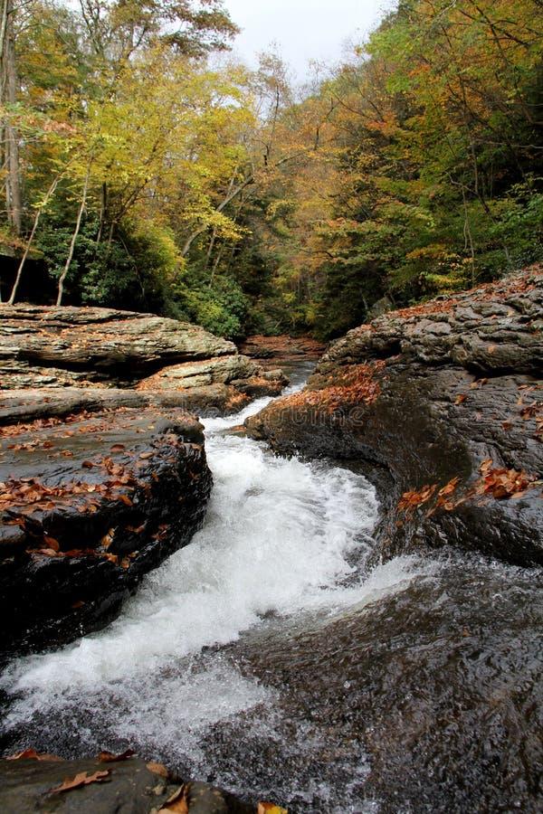 Naturalni waterslides - ohiopyle, PA zdjęcie stock