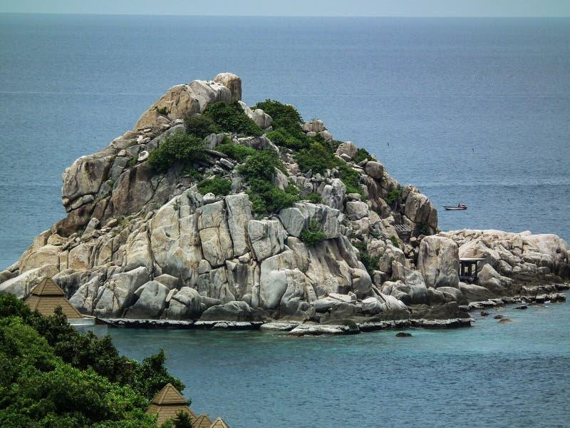 Naturalnie mały wyspy plaży raj Koh Tao Tajlandia zdjęcie stock