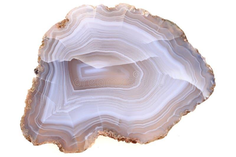 naturalny agat odizolowywający zdjęcie stock