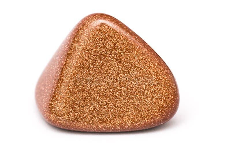 Naturalny Brown Błyszczący kamień Odizolowywający obrazy royalty free