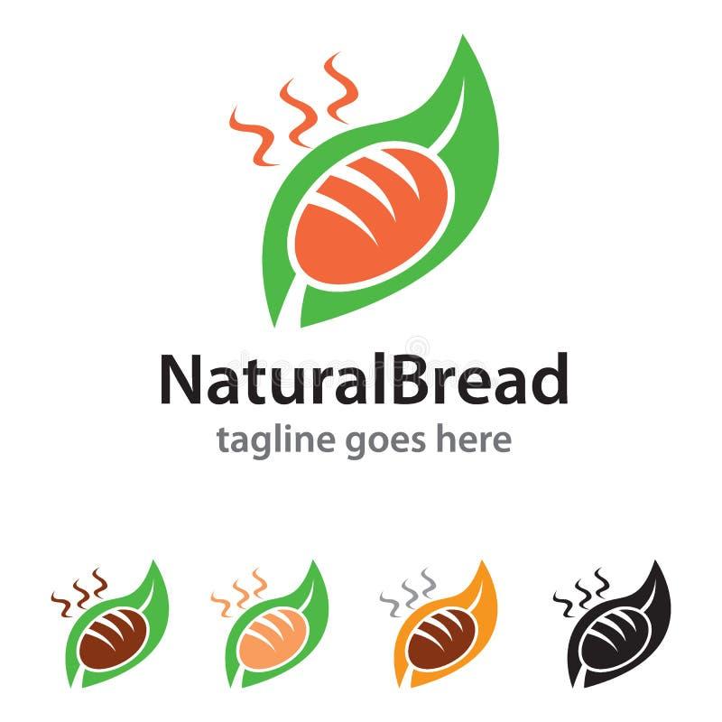 Naturalny Chlebowy loga szablonu projekta wektor ilustracja wektor