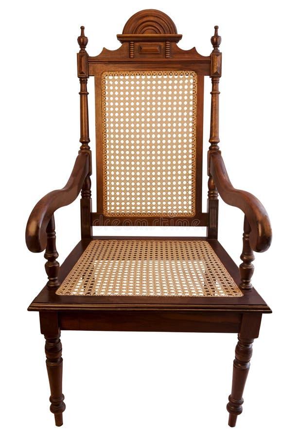 Naturalny drewniany krzesło zdjęcia royalty free