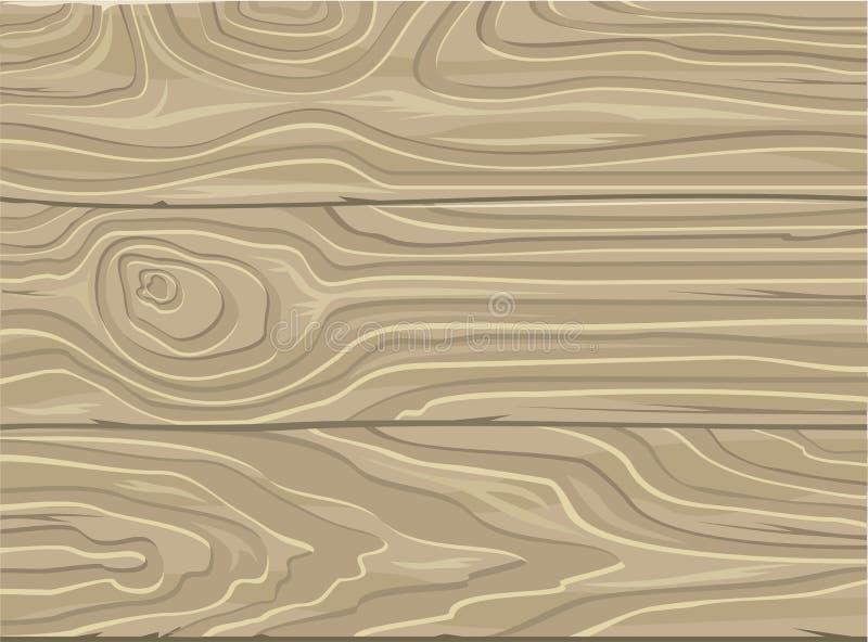 Naturalny drewniany tło Drewniana tekstura wektor ilustracja wektor