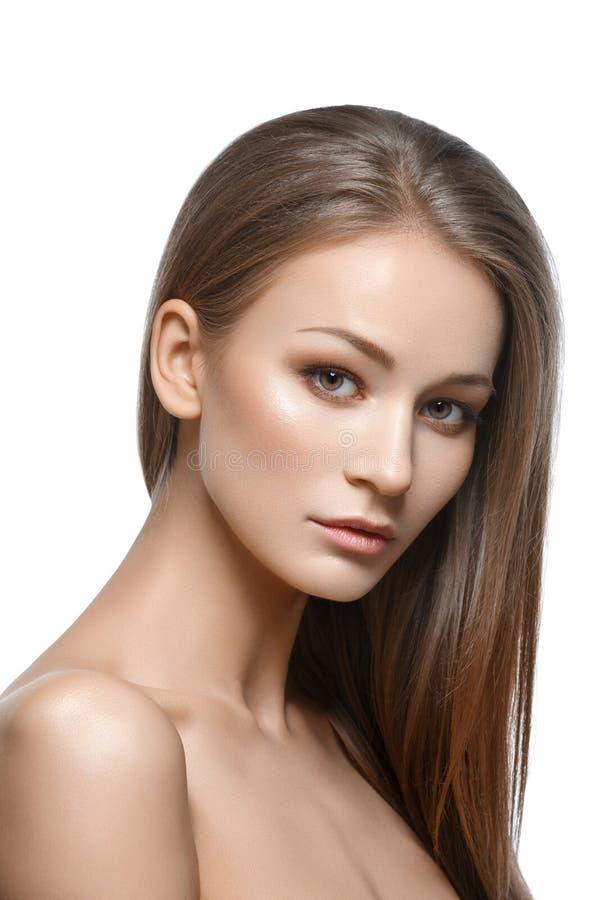 naturalny dziewczyny piękny makeup fotografia royalty free