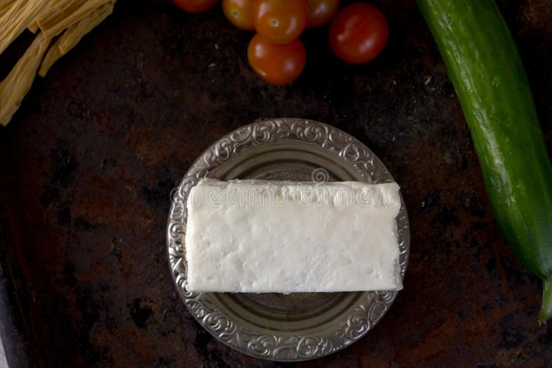 Naturalny i organicznie indyjski serowy paneer, obraz royalty free