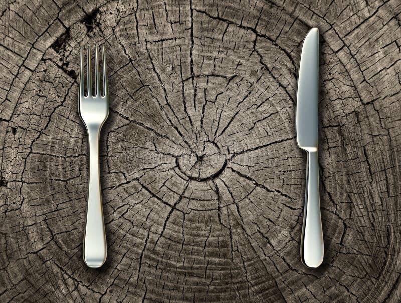 Naturalny jedzenie ilustracja wektor