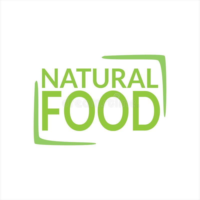 Naturalny karmowy logo projekt royalty ilustracja
